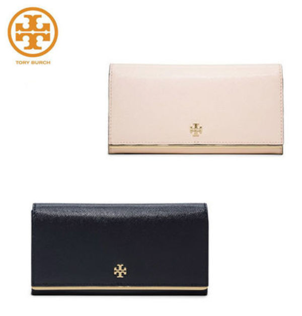 TORY BURCH ☆ ROBINSON PATENT ENVELOPE CONTINENTAL WALLET