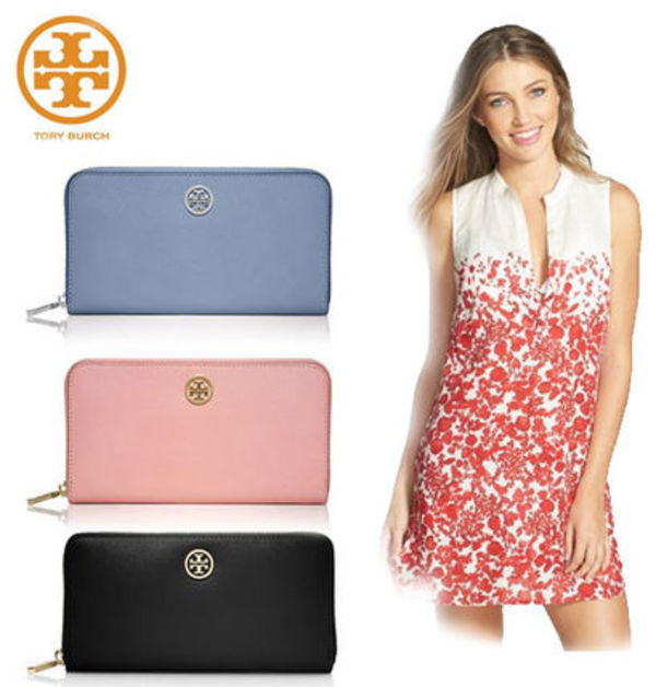 TORY BURCH ☆ ROBINSON MULTI-GUSSET ZIP CONTINENTAL WALLET