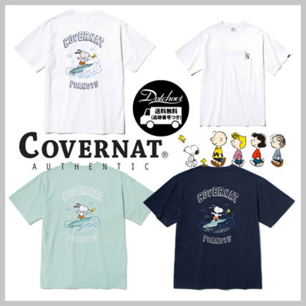 COVERNAT CXPEANUTS 70th SURFING SNOOPY TEE MH1642 追跡付