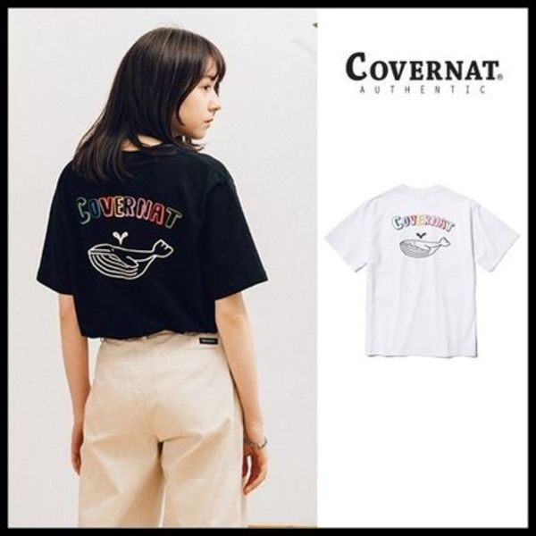 ◆COVERNAT◆ Tシャツ S/S WHALE GRAPHIC TEE