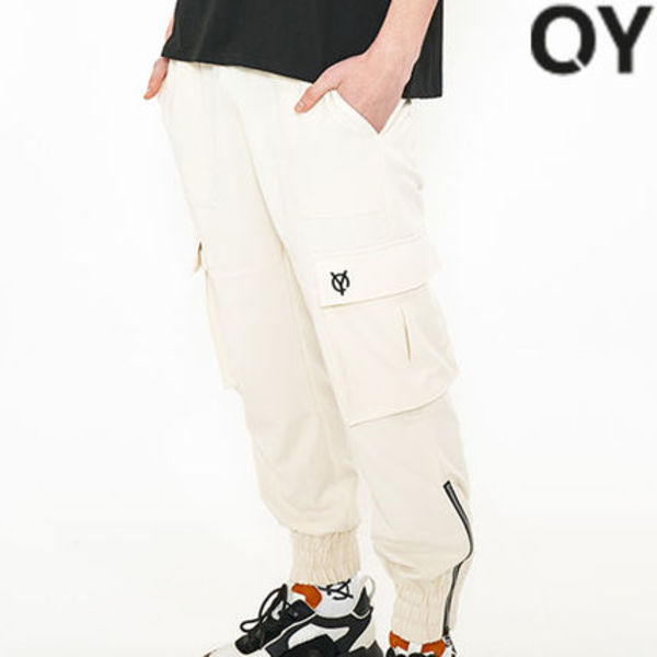 ★OY★CARGO JOGGER SLACKS PANTS-CREAM★正規品/韓国直送料込