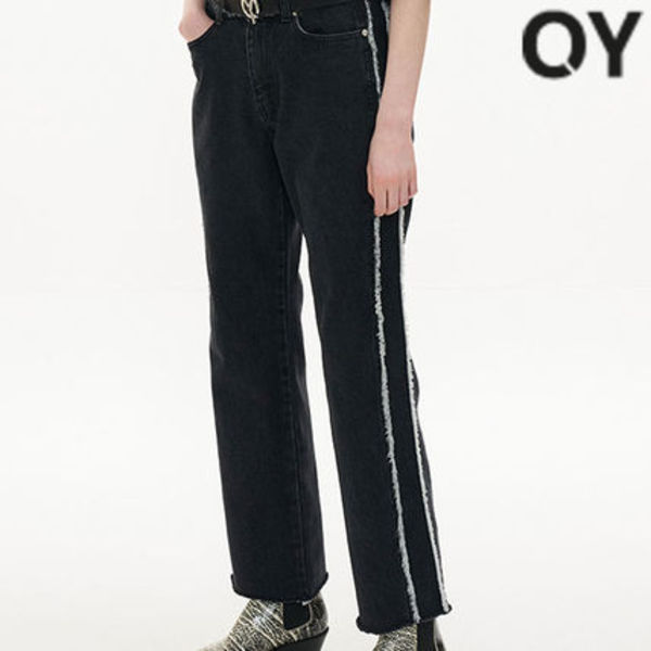 ★OY★CUTTING DENIM JEANS-BLACK★正規品/韓国直送料込