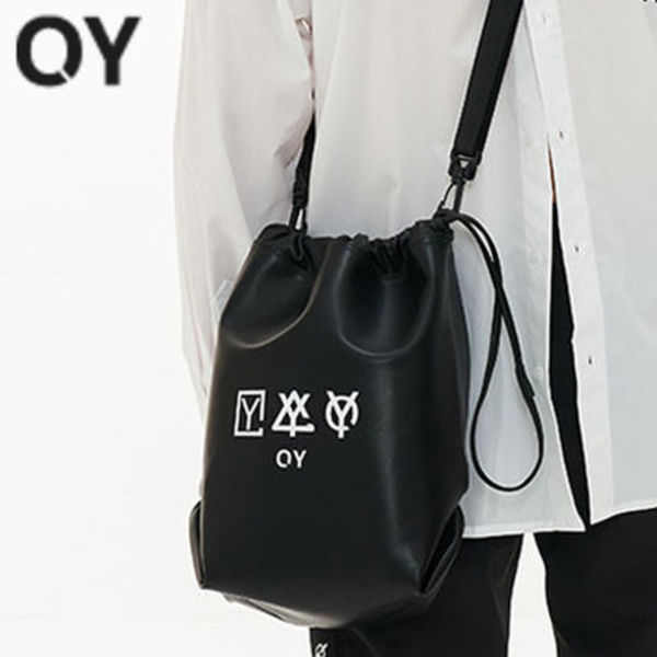 ★OY★TRIPLE LOGO LEATHER BUCKET BAG★正規品/韓国直送込