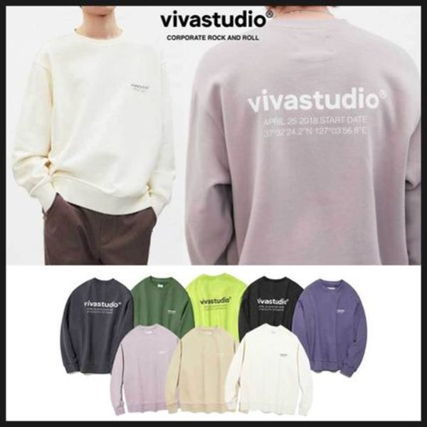 ◆VIVASTUDIO◆ LOCATION CREWNECK JS (全8色) 韓国発 人気