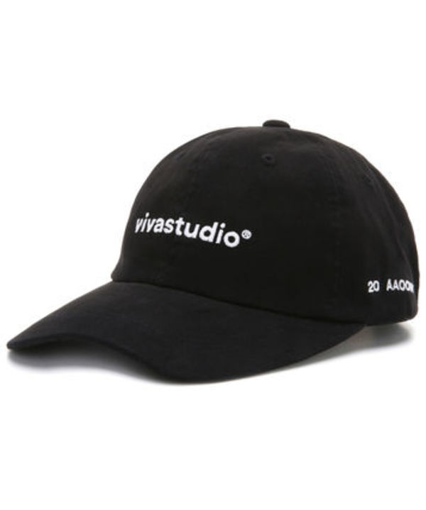 vivastudio WASHED LOGO BALL CAP JS [BLACK]