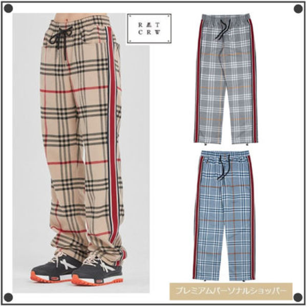 日本未入荷ROMANTIC CROWNのSIDE LINE CHECK PANTS 全3色