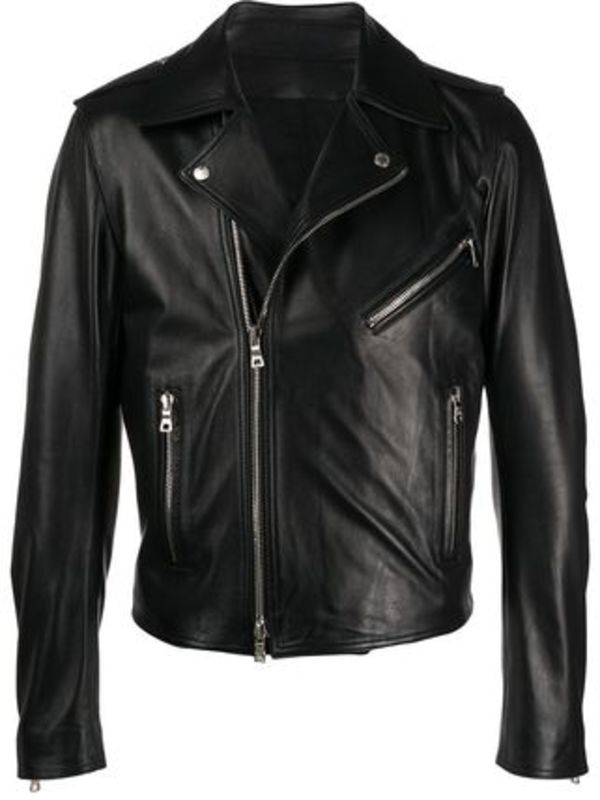 【関税負担】 BALMAIN Biker Leather Jacket