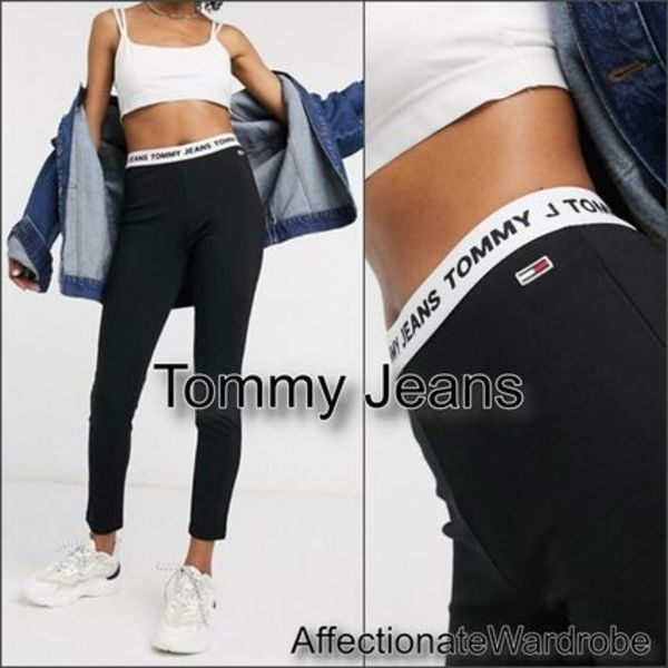 Tommy Jeans■ ウエストロゴバンド レギンス