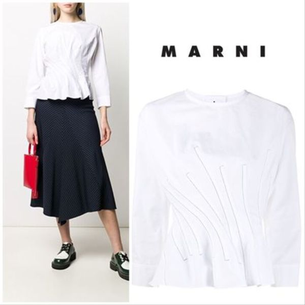 【MARNI】Blouse with ruffles