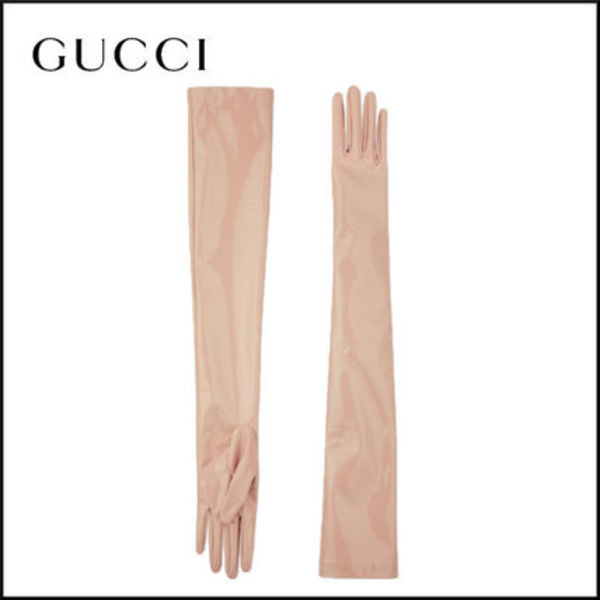 【20SS新作】GUCCI パウダーカラー ストレッチ ロンググローブ