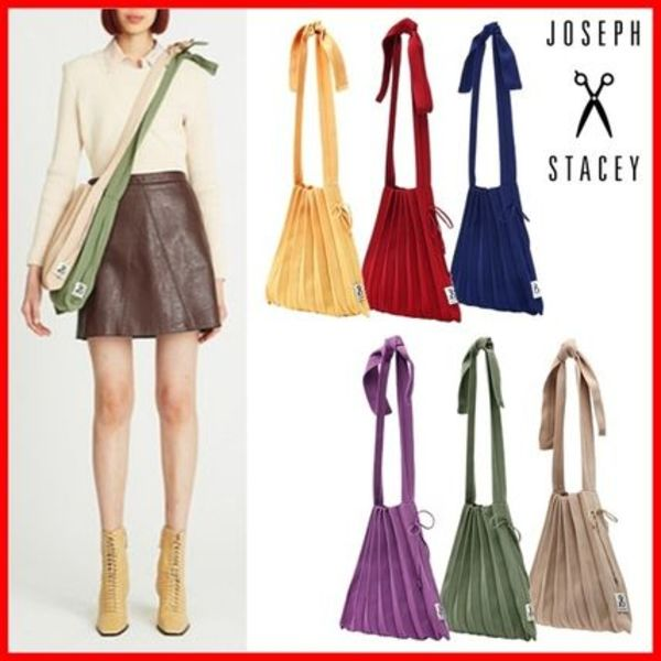 韓国ブランド☆JOSEPH&STACEY☆Lucky Pleats Knit M Half & Half