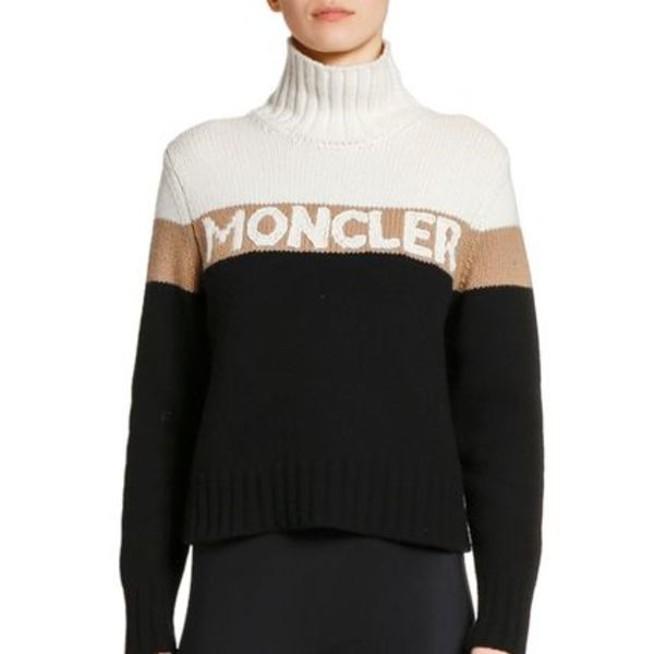 大セール!☆MONCLER☆Colorblock Logo Sweater☆ロゴセーター