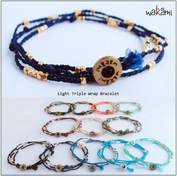 ロンハーマン■wakami■light triple wrap bracelet
