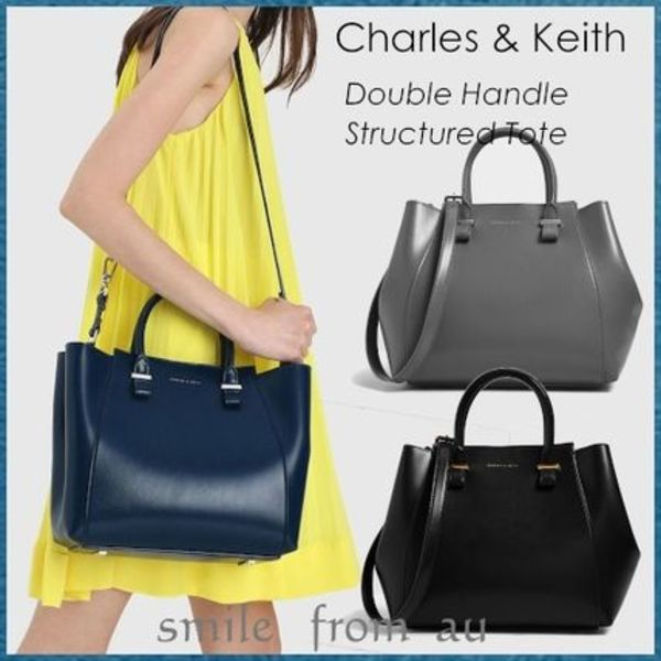 Charles&Keith★Double Handle Structured Tote★トートバッグ