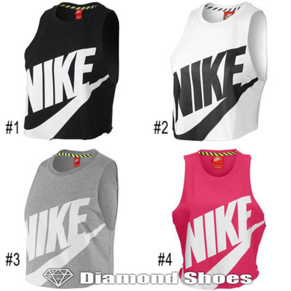 NIKE WOMEN'S NTF CROP SLEEVELESS TOP 4色 S-XL 送料無料