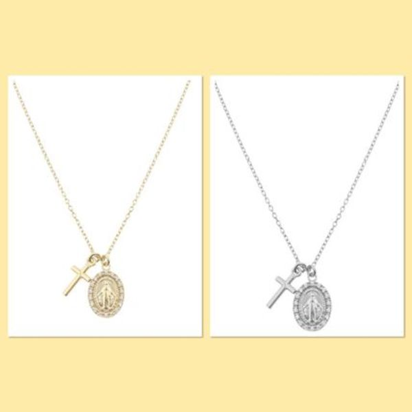 Aleyole Milagrosa Silver/Gold Necklace ネックレス★国内発送