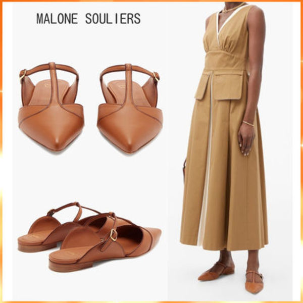 MALONE SOULIERS レザーミュール