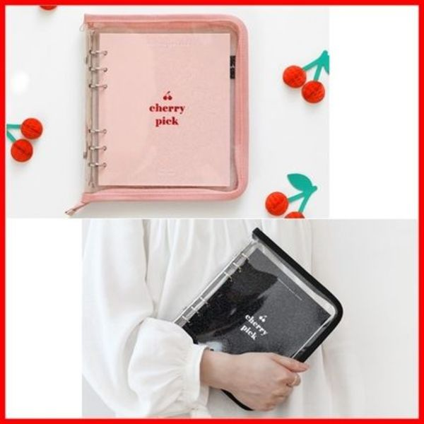 ☆2NUL☆ A6 WIDE Cherry Pick Diary Zipper ☆韓国大人気☆