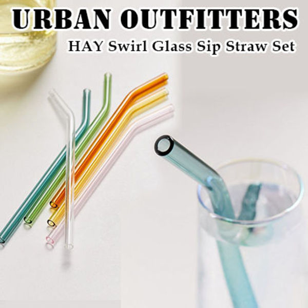 Urban Outfitters★HAY ガラスストロー6本セット カラフル