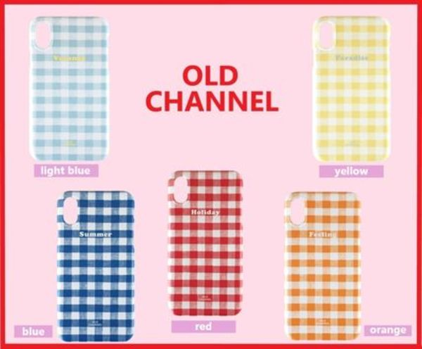 ★OLD CHANNEL★GINGHAM CHECK Phone case 5color / 追跡有