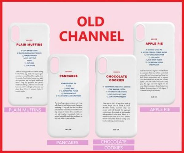 ★OLD CHANNEL★RECIPE Phone case 4種 / 正規品・追跡有