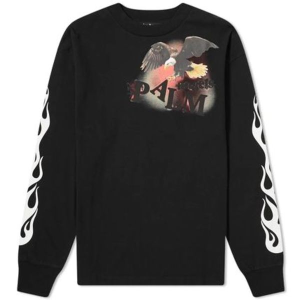 20AW パームエンジェルス PALM ANGELS FLAME EAGLE L/S TEE