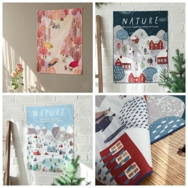 【MARY HOUSE】Nature Fabric poster (46*60cm)