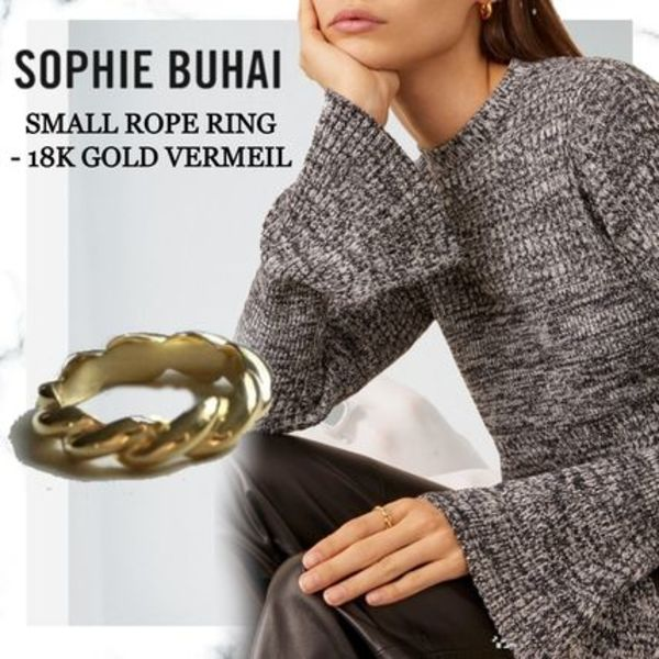 ■Sophie Buhai■SMALL ROPE RING - 18K GOLD VERMEIL