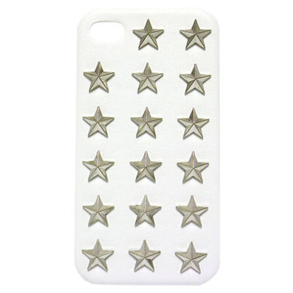 ★超人気・国内発送【enLA】iPhone4S STAR STUDDED LEATHER CASE