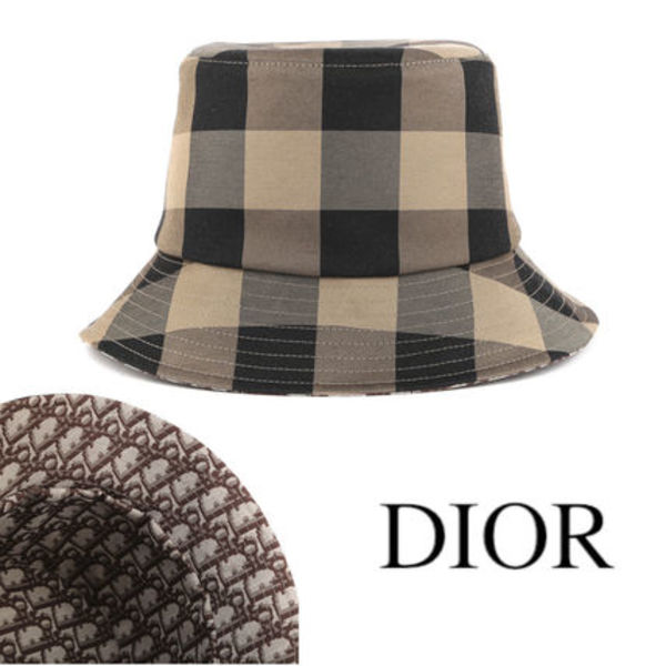 DIOR CHECK'N'DIOR BUCKET HAT