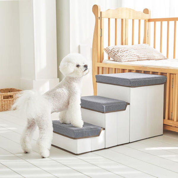 Woolly★Stepperペット3段収納ボックス機能ステップ犬用運動玩具
