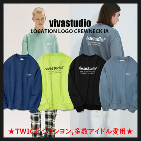 ◆vivastudio◆ LOCATION LOGO CREWNECK IA TWICEジョンヨン愛用