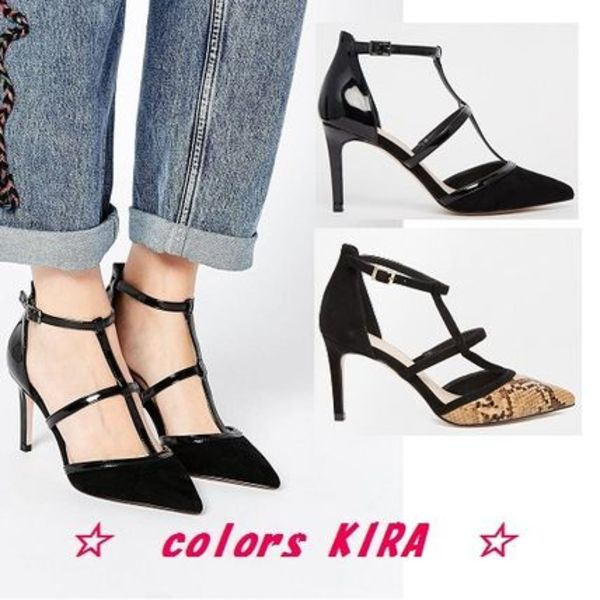 ASOS SWEEP THE BOARD Caged Pointed Heels♪2色