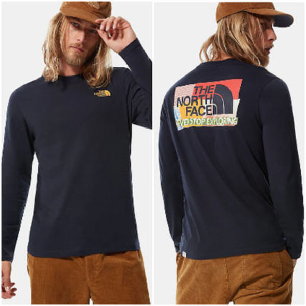 UK発★The North Face20AW新作 グラフィックロングTシャツ