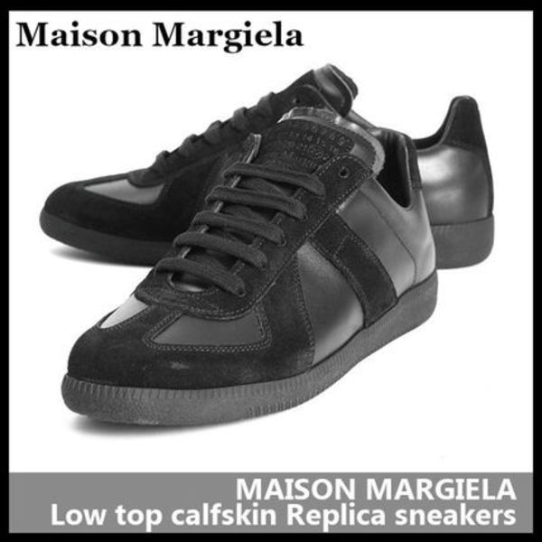 【Maison Margiela】Low top calfskin Replica sneakers