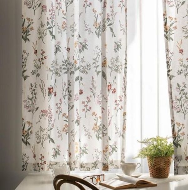 【DECO VIEW】Plenflower Small Window Curtain