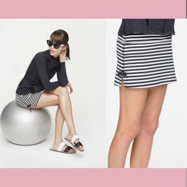 【Kate Spade】ヨガウエア Side Bow Slit Skirt/Stripe