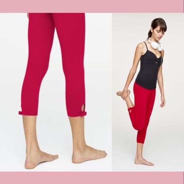 【Kate Spade】ヨガウエア High Waist Bow Capri Legging/Red
