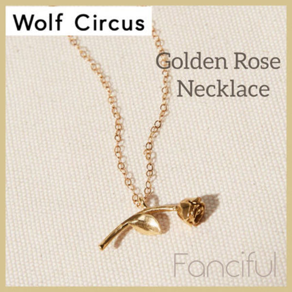 【Wolf Circus】残りわずか!!Golden Rose Necklace