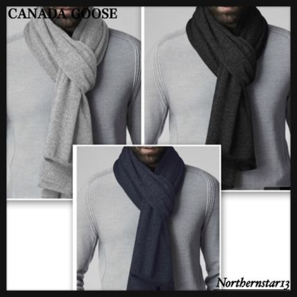 【CANADA GOOSE】メリノウール/Knit Jersey Scarf/各色
