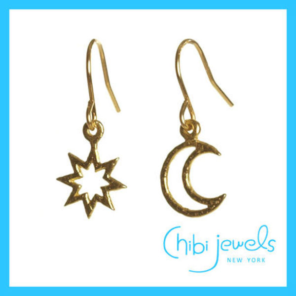 chibi jewels チビジュエルズ☆Starburst and Crescent ピアス