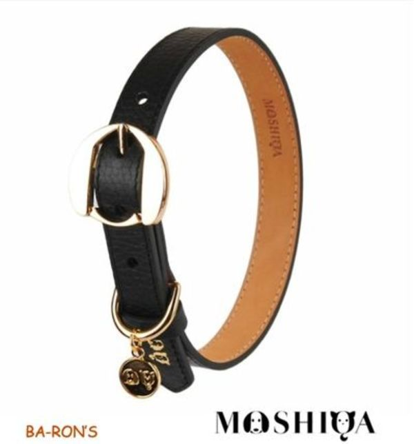 【送料無料】MOSHIQA(モシカ)ーHachiko Dog Collar Black