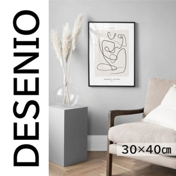 ★DESENIO★線画・ABSTRACT FIGURES NO1 POSTER・30×40㎝★