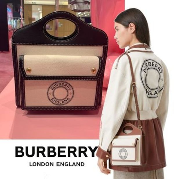 【BURBERRY】在庫希少!20SS新作 ロゴ キャンバスポケットバッグ
