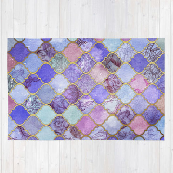 Society6◆洗えるラグマット◆L:122cm × 183cm◆Royal Purple,