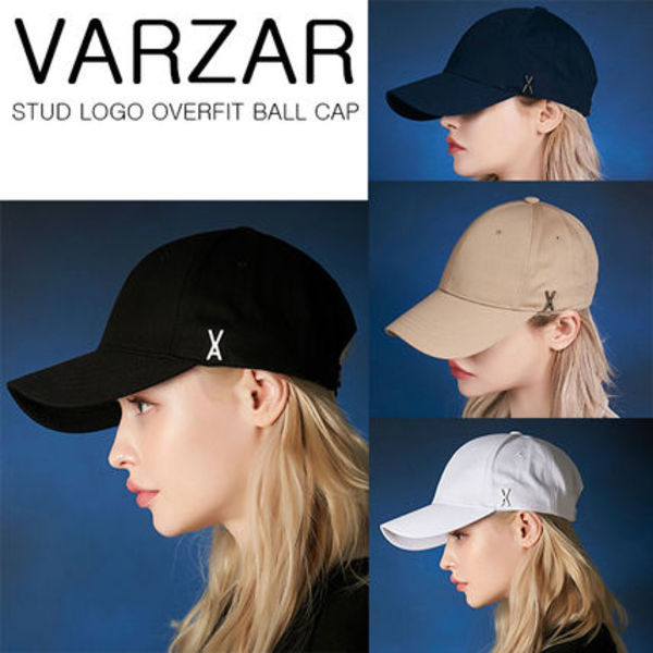 ★VARZAR★STUD LOGO OVERFIT BALL CAP(4COLORS)韓国人気
