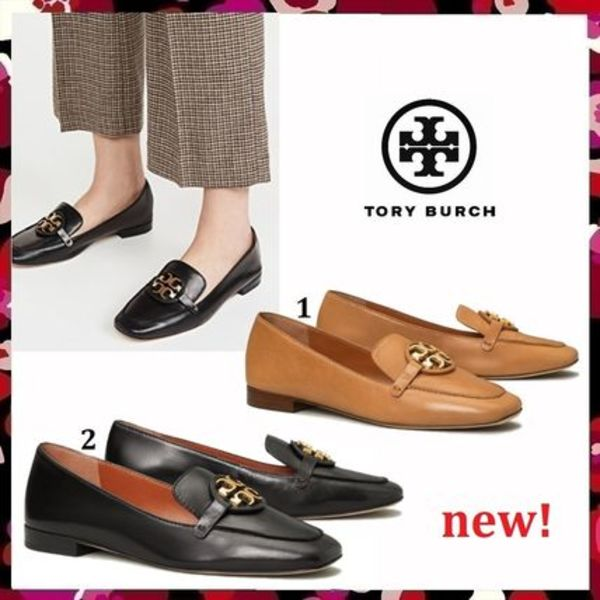 セール 新作 Tory Burch Miller Metal Logo 15MM Loafer Leather