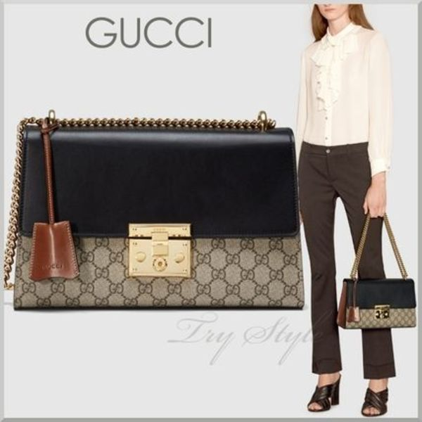 2016SS★GUCCI パドロック付き チェーン ショルダーバッグ 2WAY