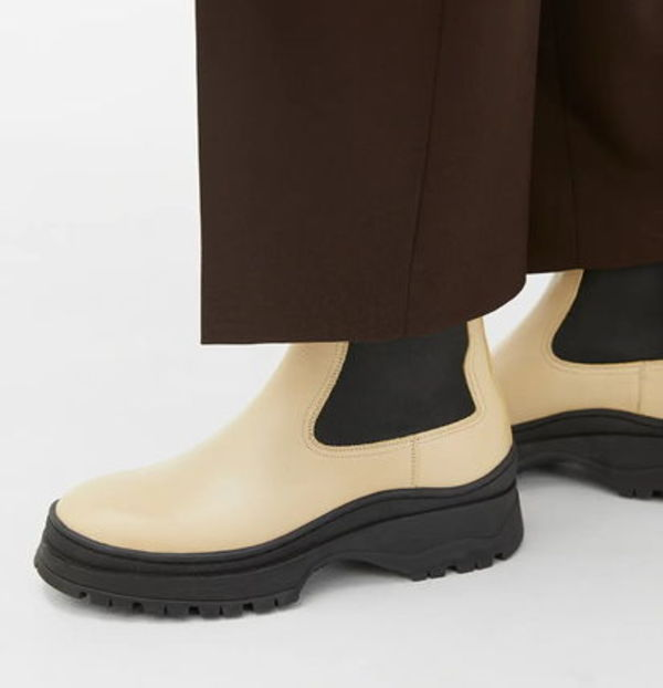 """""""ARKET"""" Chunky Leather Boots LightYellow"""