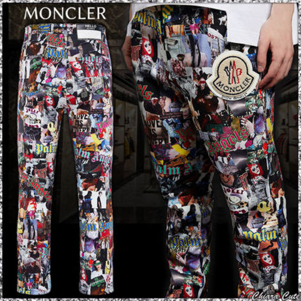 【19AW NEW】MONCLER / PALM ANGELS コラージュパンツ /